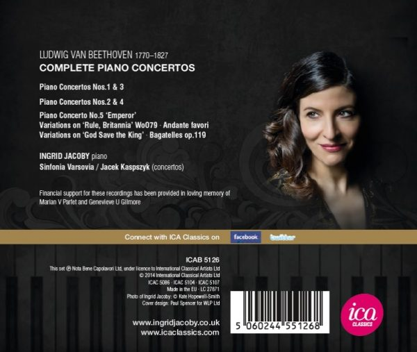 Ingrid Jacoby – Beethoven's Complete Piano Concertos (3 CDs)